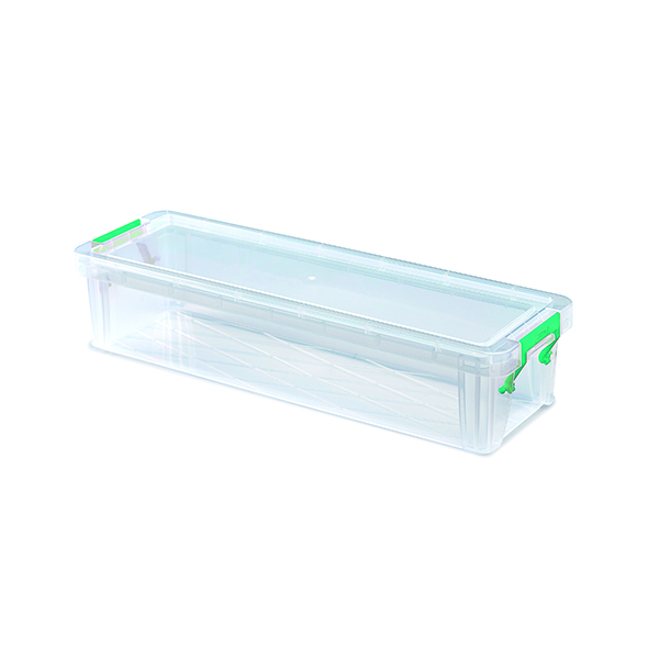 Boxes StoreStack 2.2 Litre Storage Box W370xD110xH80mm Clear RB75896