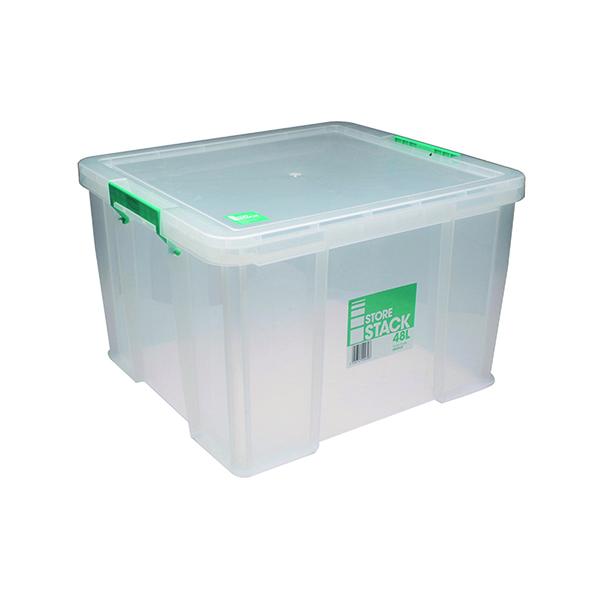 StoreStack 48 Litre Storage Box W490xD440xH320mm Clear RB90125