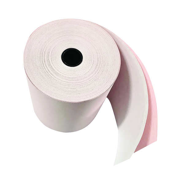 Tally Rolls Prestige Till Rolls 2-Ply 76mm White/Pink (20 Pack) RE05520