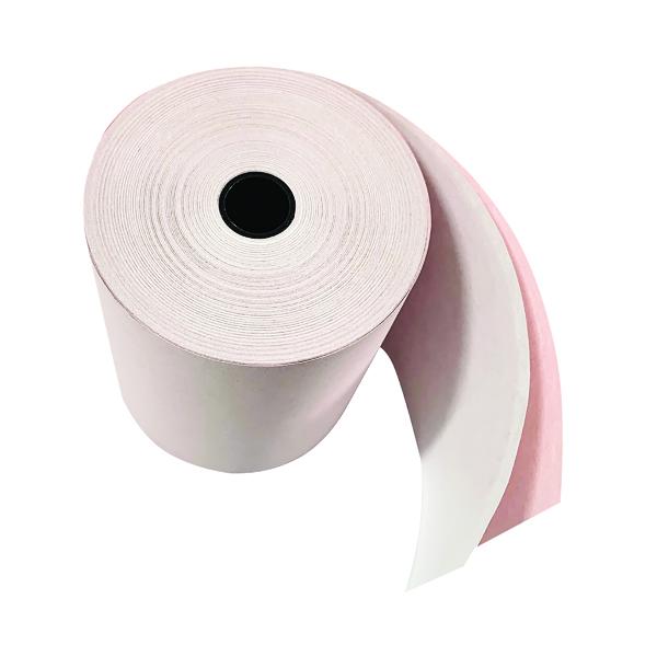 Prestige Till Rolls 2-Ply 76mm White/Pink (20 Pack) RE05520