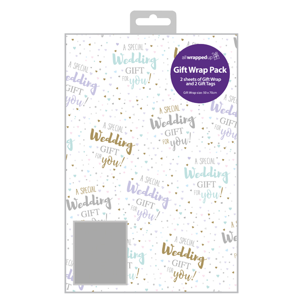 Paper Regent Wedding Gift Wrap and Tag (12 Pack) F364
