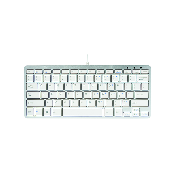 R-GO Compact Keyboard Wired White RGOECUKW