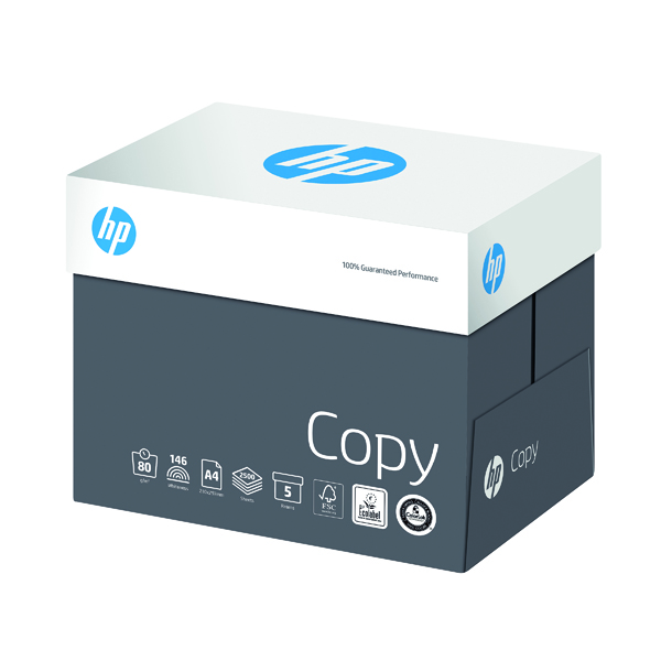 White 80gsm HP Copy A4 80gsm (2500 Pack) CHPCO080X413