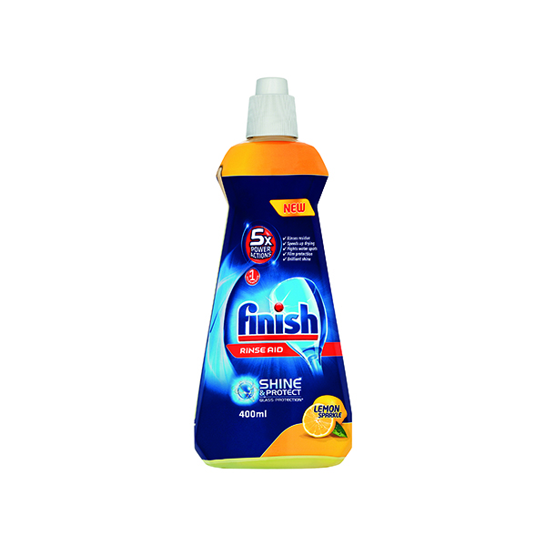 Cleaning Chemicals Finish Rinse Aid Lemon 400ml 74538