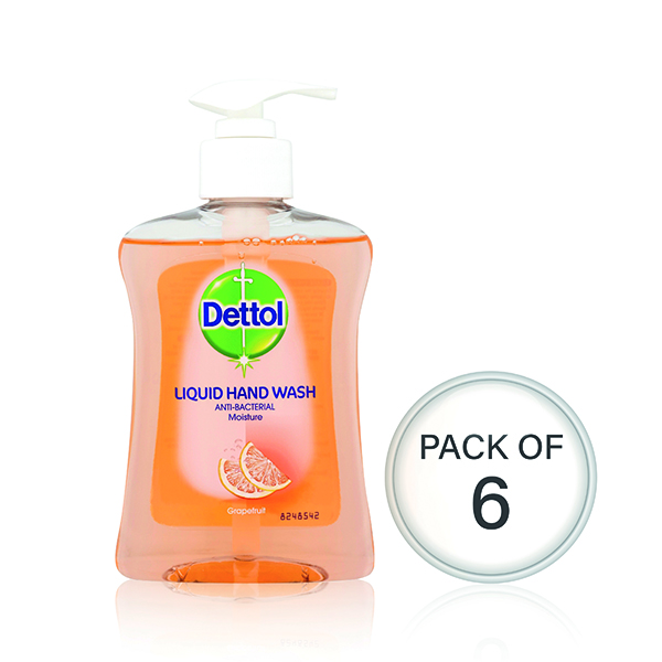 Floor Cleaning Dettol Moisture Hand Wash 250ml (6 Pack) 74992
