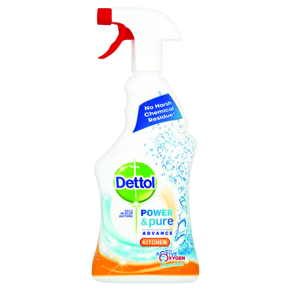 Cleaning Chemicals Dettol Power and Pure Advance Kitchen Spray 750ml RB774775