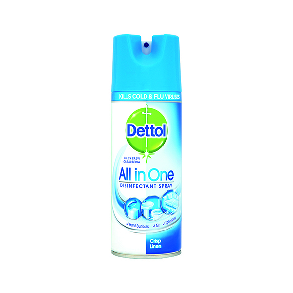 Disinfectant Wipes Dettol Antibacterial All-in-One Disinfectant Spray 400ml 3021337