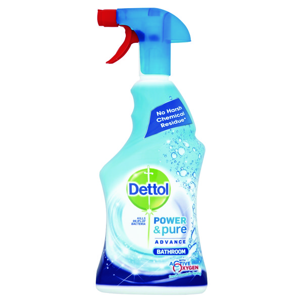 Cleaning Chemicals Dettol Power & Pure Advance Bathroom Spray 750ml RB788783