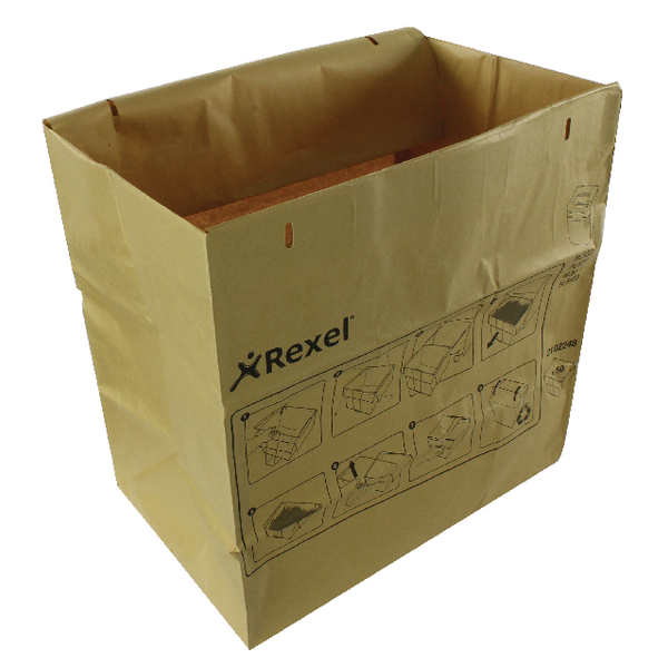 Bags/Sacks Rexel Brown Recyclable Paper Shredder Bags (50 Pack) 2102248