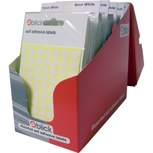 Polybags Blick White Pop Pack Labels (100 Pack) RS000051