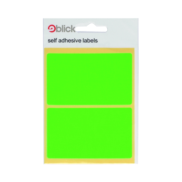 Blick Green Fluorescent Labels in Bags 50x80mm (160 Pack) RS010654
