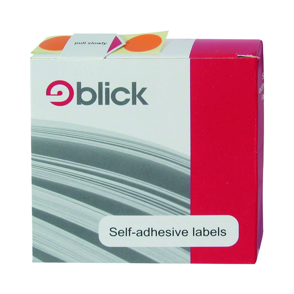 Dispenser Blick Labels in Dispensers Round 19mm Blue (1280 Pack) RS011453