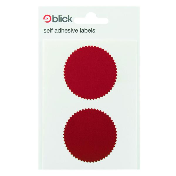 Blick Company Seal 50mm Diameter Red 8 Per Dispenser (160 Pack) RS014652