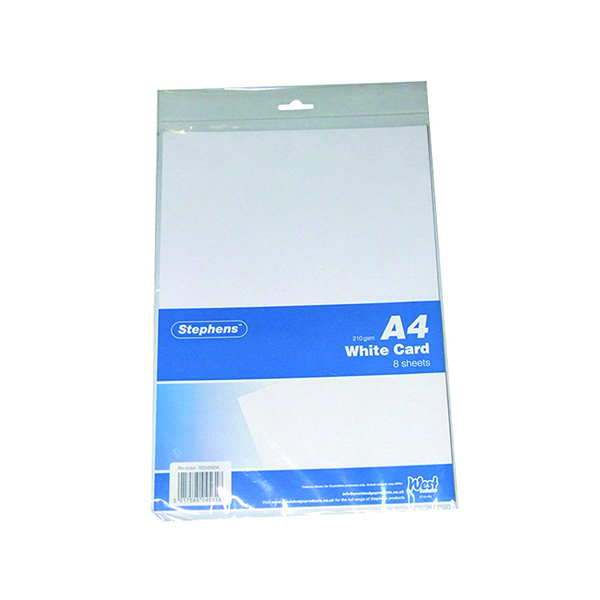 White Stephens A4 White Craft Card (10 Pack) RS045656
