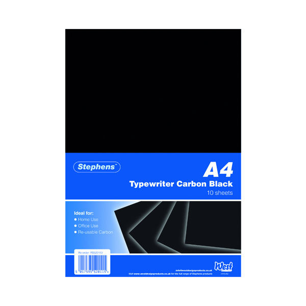 A4 Stephens Black Typewriter Carbon A4 Paper (100 Pack) RS520153