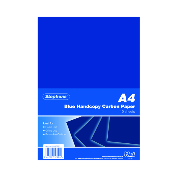 A4 Stephens Blue A4 Hand Carbon Paper (100 Pack) RS520252