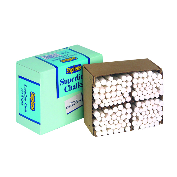 Chalk Stephens Tapered Chalk Stick White (144 Pack) RS522553