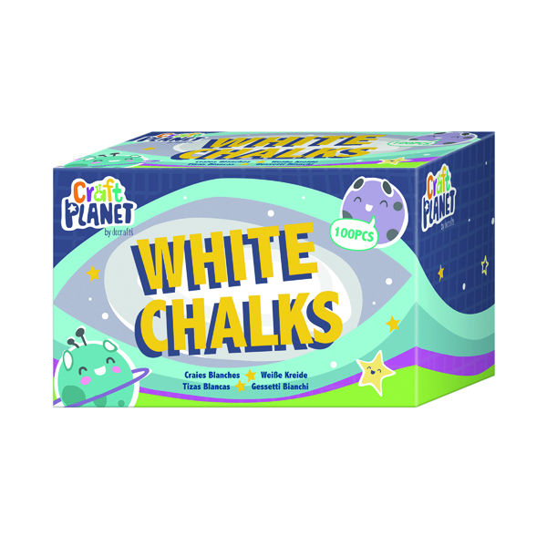 Chalk Study Time Chalk White (100 Pack) EDU211
