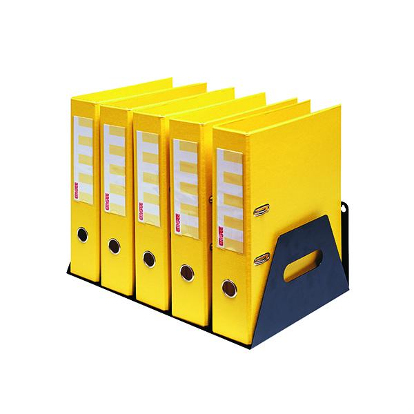 File Sorter Rotadex 5-Section Lever Arch Filing Rack Black LAR5Black
