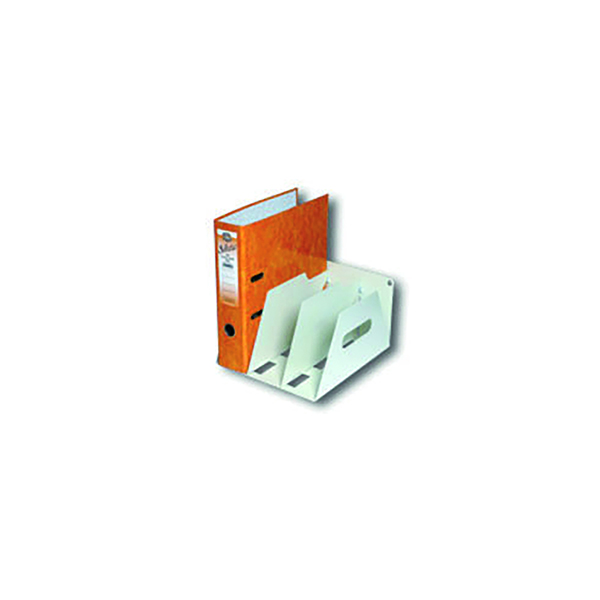 Binders/Folders Rotadex 3-Section Lever Arch Filing Rack A4 Smoke White LAR3