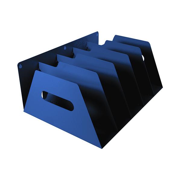 File Sorter Rotadex 5-Section Lever Arch Filing Rack Blue LAR5Blue