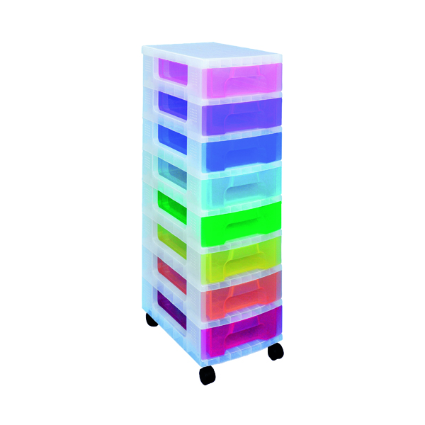 Storage Boxes Really Useful Storage Tower With 8 Drawers Multicoloured DT1007