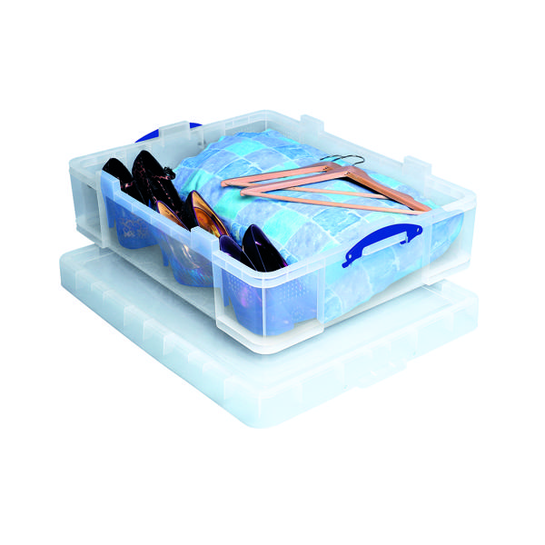 Unspecified Really Useful 70L Plastic Storage Box W810xD620xH275mm Clear 70C