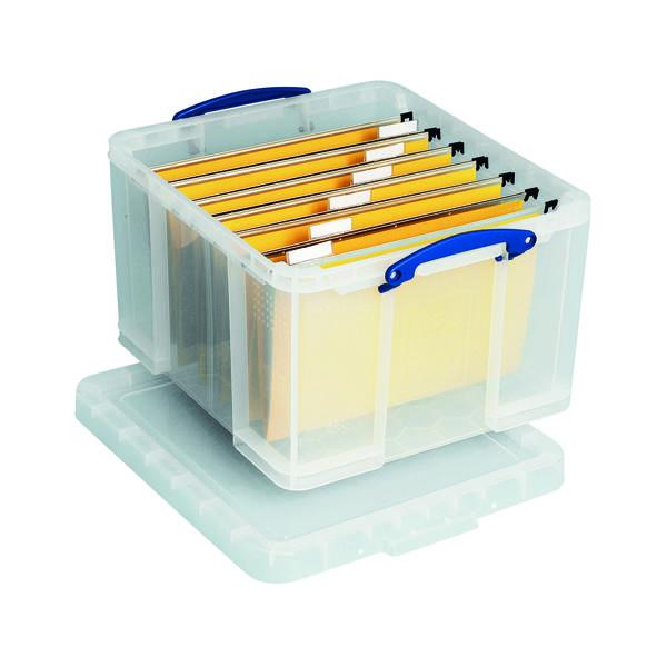 Storage Boxes Really Useful 42L Plastic Storage Box W520xD440xH310mm Clear HBC