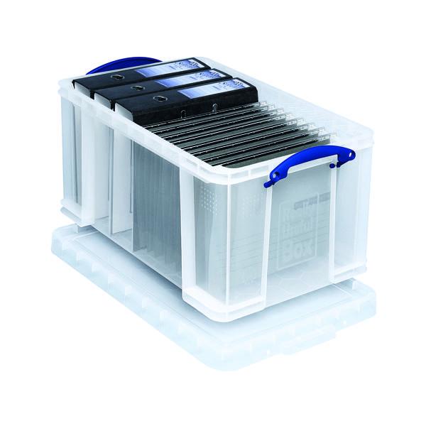 Storage Boxes Really Useful 48L Plastic Storage Box W600xD400xH310mm Clear 48C