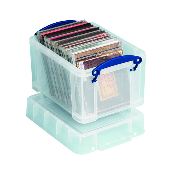 Storage Boxes Really Useful 3L Plastic Storage Box With Lid 245x180x160mm Clear 3C