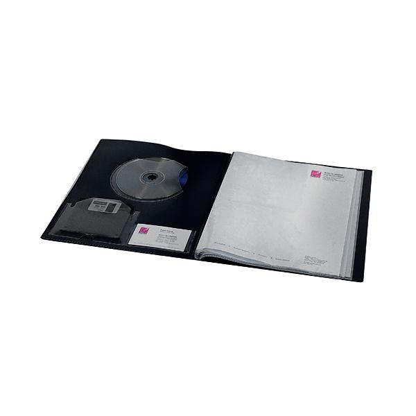 21-30 Pockets Rexel Clearview Display Book 24 Pocket A4 Black 10320BK