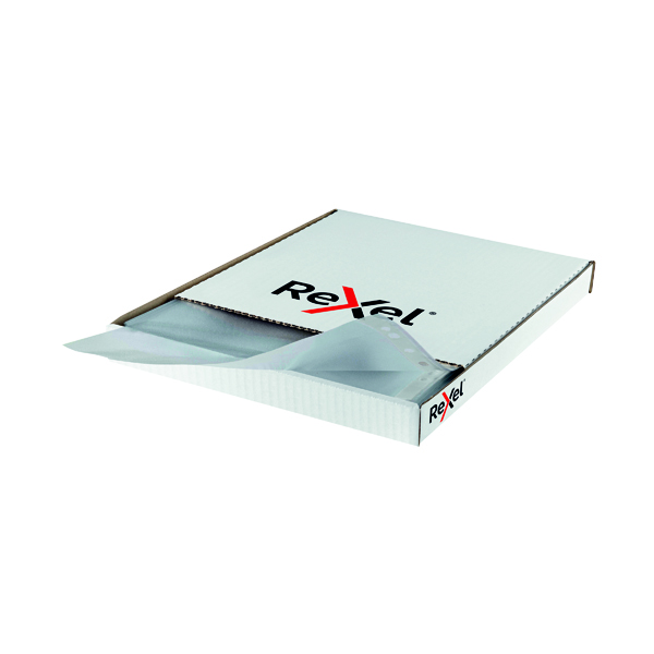 Rexel Superfine Pocket Top Opening Polypropylene A4 Clear (100 Pack) RSPA4 11040