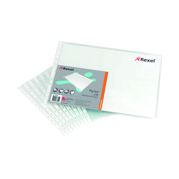 A3 Rexel Nyrex Top Opening Pockets Oblong A3 (10 Pack) 11440