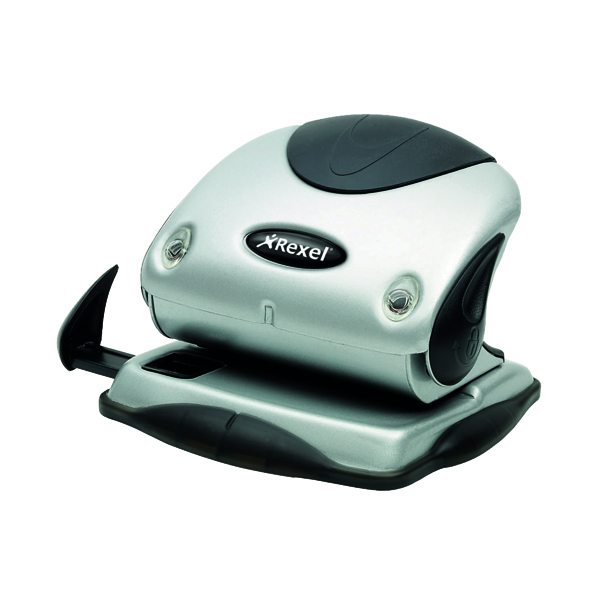 2Hole Rexel Precision P215 Hole Punch Silver/Black 2100738
