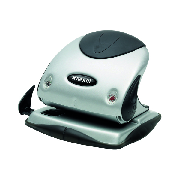 2Hole Rexel Precision P225 Hole Punch Silver/Black 2100743