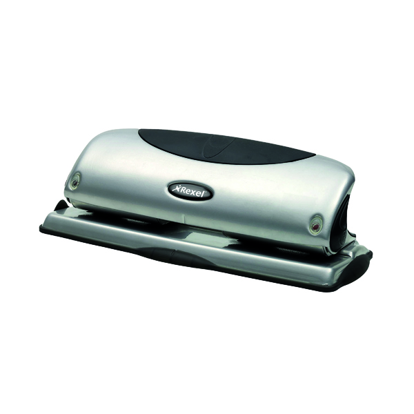 4 Hole Rexel Precision P425 4 Hole Punch Silver/Black 2100753