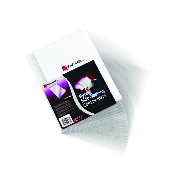 Card Holders Rexel Nyrex Card Holder Open Top 95x64mm Clear (25 Pack) PGC321 12010