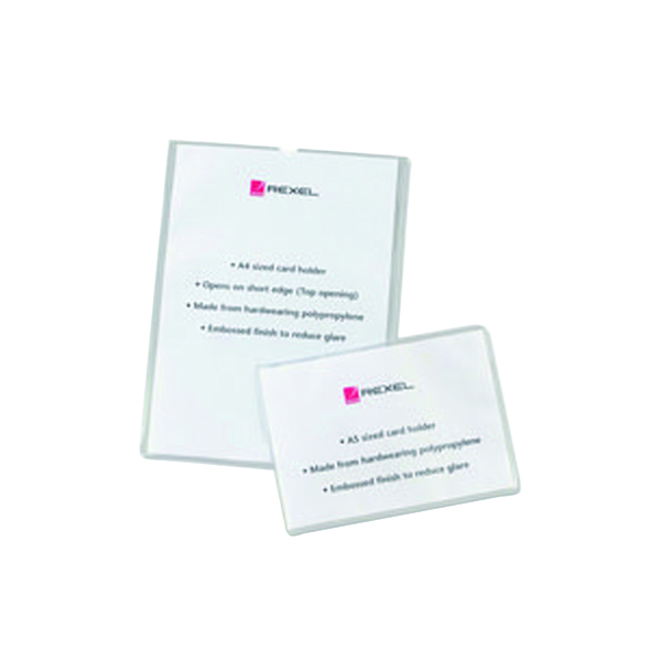 A Sizes Rexel Card Holders Polypropylene A4 Clear (25 Pack) 12092