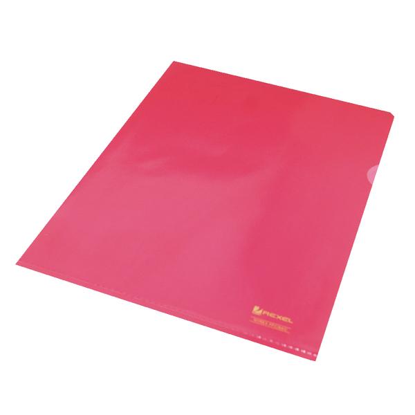 Rexel Nyrex Cut Flush Folder A4 Red (25 Pack) 12161RD