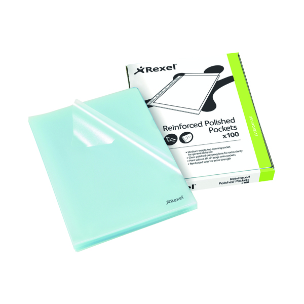 Rexel Cut Flush Folder Polypropylene A4 Clear (100 Pack) 12215