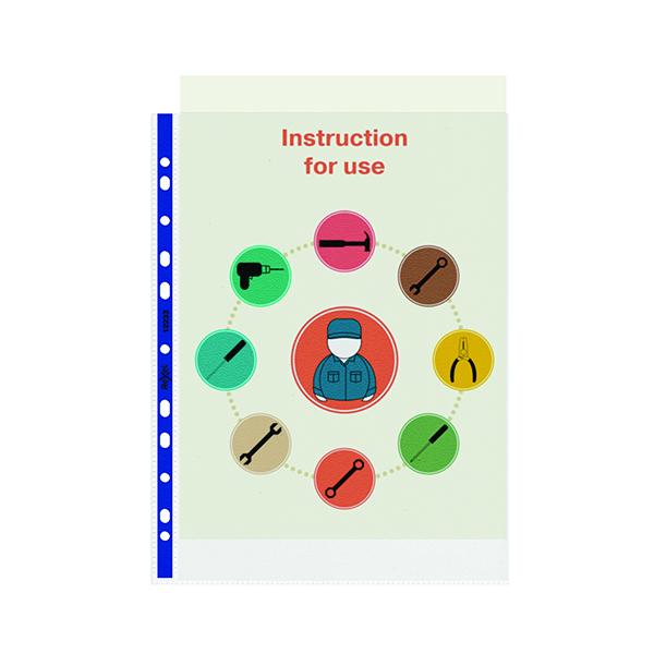 Rexel Nyrex Pocket PVC Open Top A4 Clear (25 Pack) NPRA4 12233
