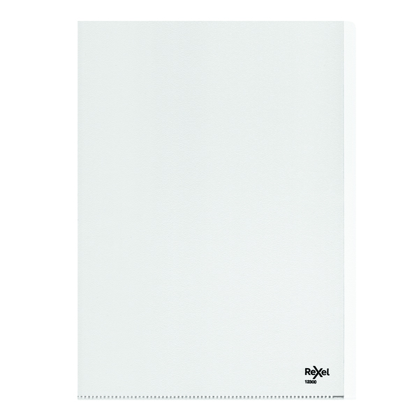 A4 Rexel Nyrex Heavy Duty Folders A4 Clear (25 Pack) 12300