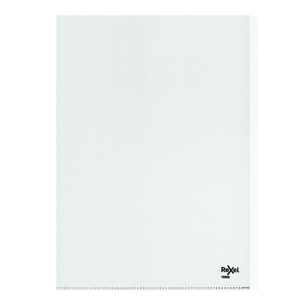 Rexel Nyrex Heavy Duty Folders A4 Clear (25 Pack) 12300