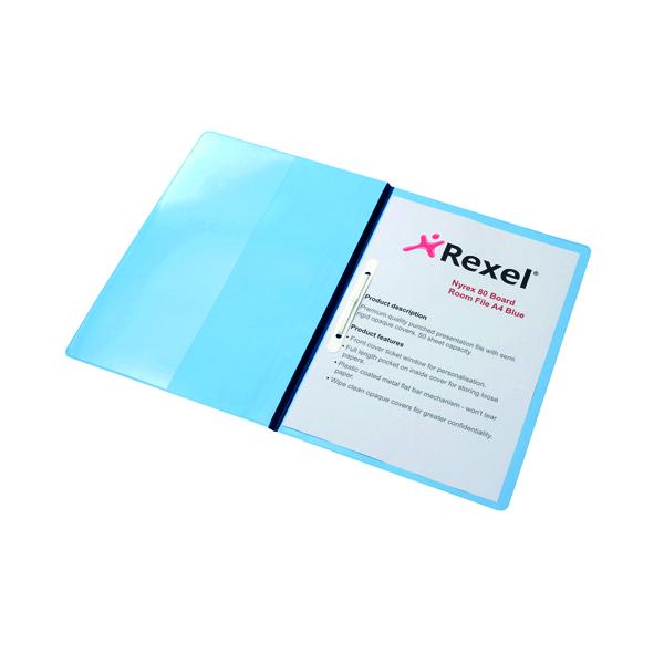 Rexel Nyrex Boardroom Files A4 Blue (5 Pack) 13035BU