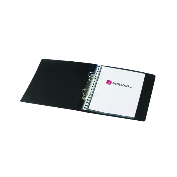 Rexel Budget 2 Ring Binder 25mm Polypropylene A5 Black (10 Pack) 13428BK