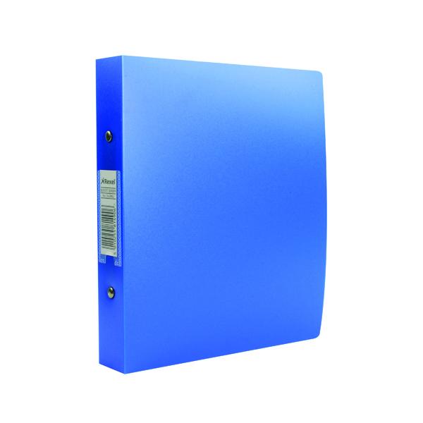 A5 Size Rexel Budget 2 Ring Binder 25mm Polypropylene A5 Blue (10 Pack) 13428BU