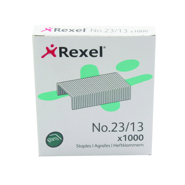 12+mm Rexel No. 23 13mm Staples (1000 Pack) 2101053