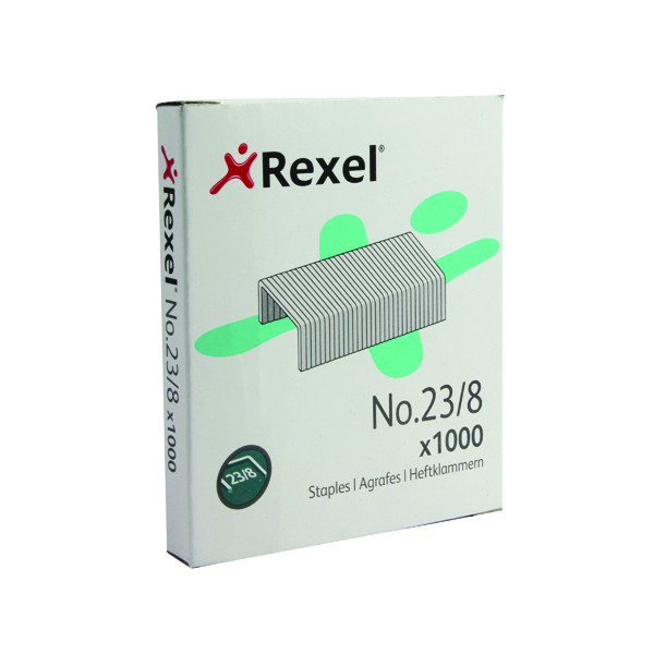 Rexel No. 23 8mm Staples (1000 Pack) 2101054