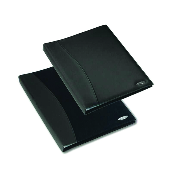 Rexel Soft Touch Smooth Display Book 24 Pocket A4 Black 2101185
