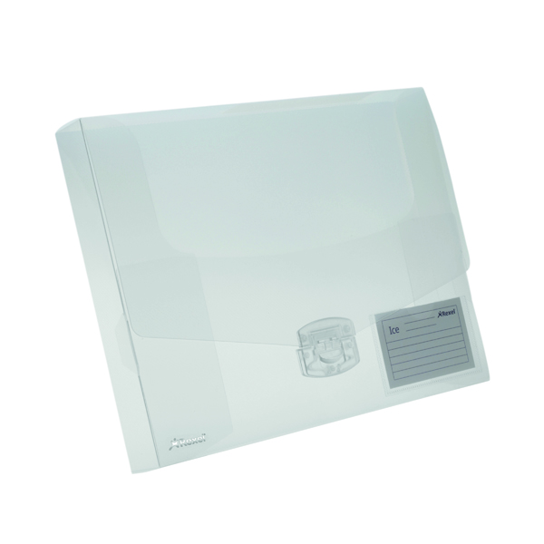 A4 Size Rexel Ice Document Box PP 40mm A4 Clear (10 Pack) 2102029